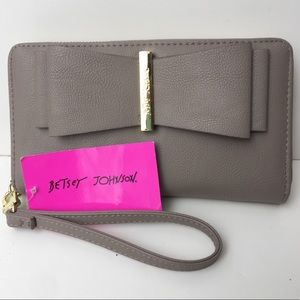 Betsy Johnson Zip Around Wallet/Wristlet